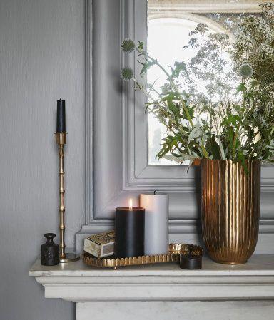 goldener Übertopf, Kerzenhalter, Kerzentablett Home Inspiration - inneneinrichtung