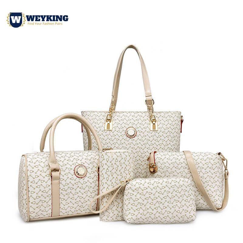 5Pcs//Set Women Lady Leather Handbags Messenger Shoulder Bags Tote Satchel Purse