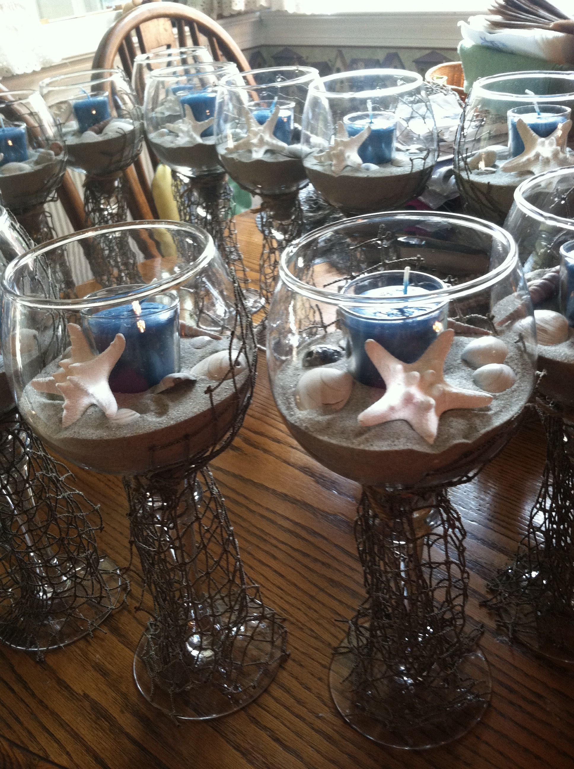 Wedding Centerpieces For Beach Themed Wedding Nautical Home In