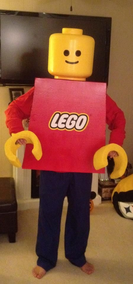 my lego minifigure costume lego fun pinterest lego kost m kost me selber machen und lego. Black Bedroom Furniture Sets. Home Design Ideas