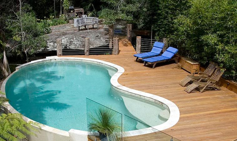 Momentous Swimming Pools With Decking Around For Kidney Shaped