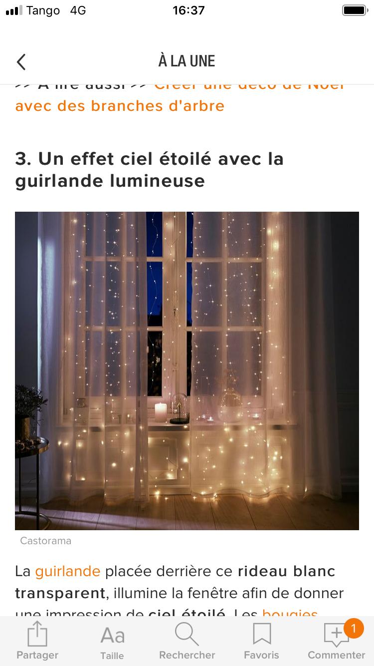Epingle Par Virginie Mertz Sur Noel Guirlande Lumineuse Rideau Blanc Rideaux