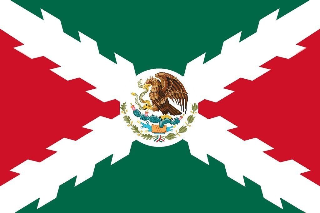 Spanish Empire Flag Mexico S Flag Inspired By The Cross Of Burgundy Spanish Empire Flag Flag Art Flag Historical Flags