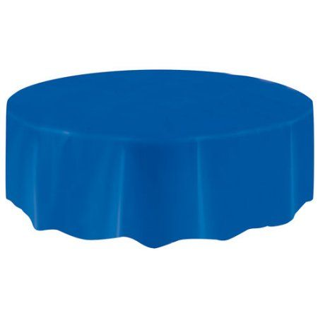 Plastic Table Covers 108 X 54 In Electric Blue 3ct Walmart Com Party Table Cloth Plastic Table Covers Table Cloth
