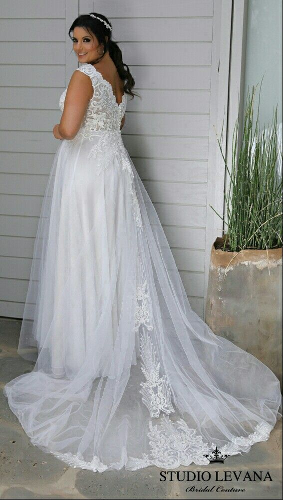 Tracie curvy bridal gown is just stunning with this shimmering lace ...