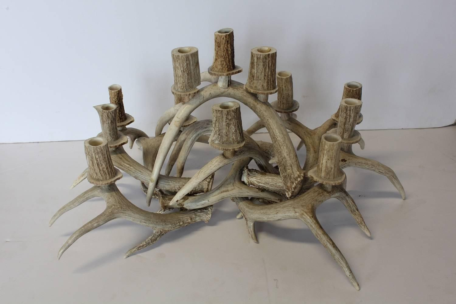 Pin By Barbara Wic On Antlers Candle Centerpieces Modern Candle Holders Antlers