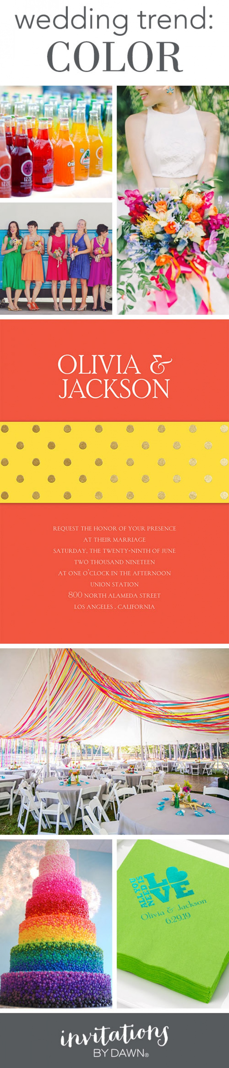 Wedding Trend: COLOR   Wedding trends, Wedding invitation trends and ...