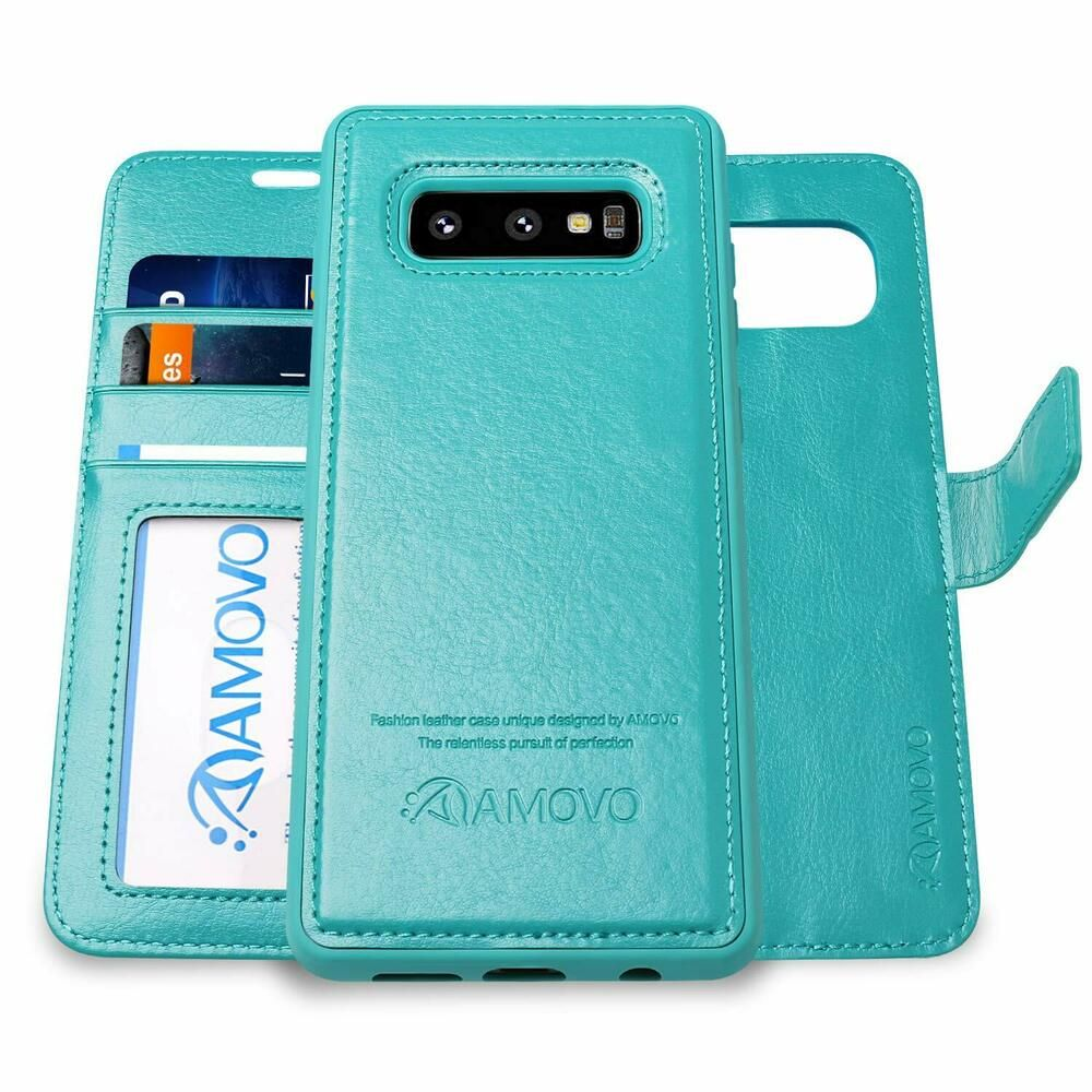 sale retailer d535e 99056 For Samsung Galaxy S10E Wallet Case Removable Leather Flip Stand ...