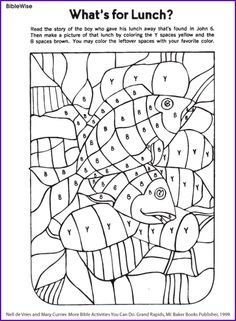 fill in picture of loaves and fishes kids korner biblewise coloring sheetskids