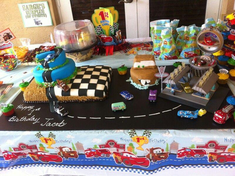 Jakes Birthday cake 1st Birthday Champ Disney Cars I Adore