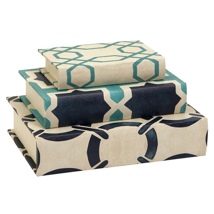 accessory book stacking idea for living room or den (Hadley Book Box