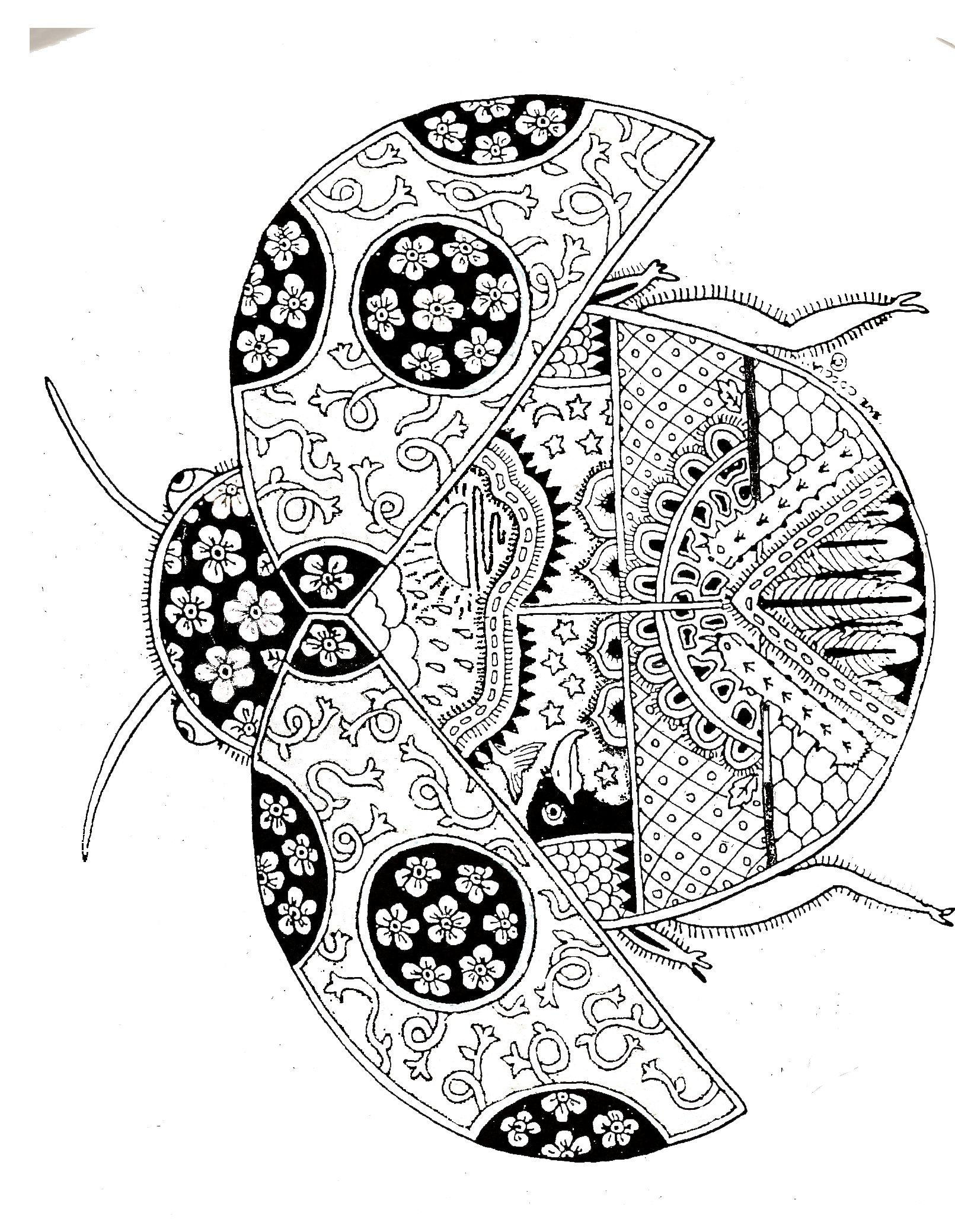 Zentangle Lady Bug Art Drawings Coloriage Colorier Coloriage à