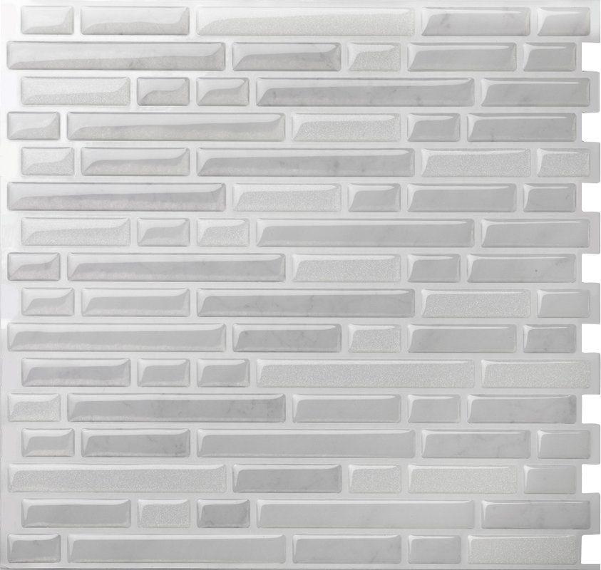 10 X 9 5 Peel Stick Mosaic Tile In Como White Tiles Stick On Tiles Self Adhesive Wall Tiles