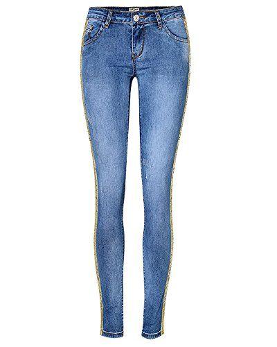 Pantalon Jean Femme Jean Pants Crayon Legging Casual Slim Taille Haute Bleu  34 9343669b69e