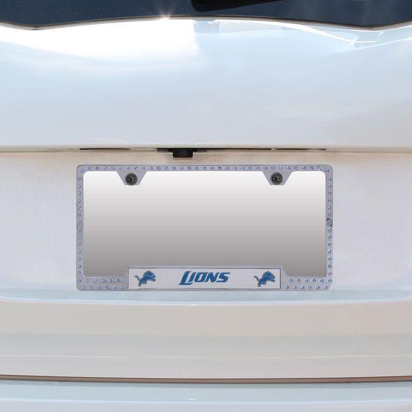 Detroit Lions Bling License Plate Frame | Bling license plate frames ...
