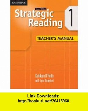 Strategic reading level 1 teachers manual 9780521281140 kathleen strategic reading level 1 teachers manual 9780521281140 kathleen oreilly lynn bonesteel isbn fandeluxe Gallery