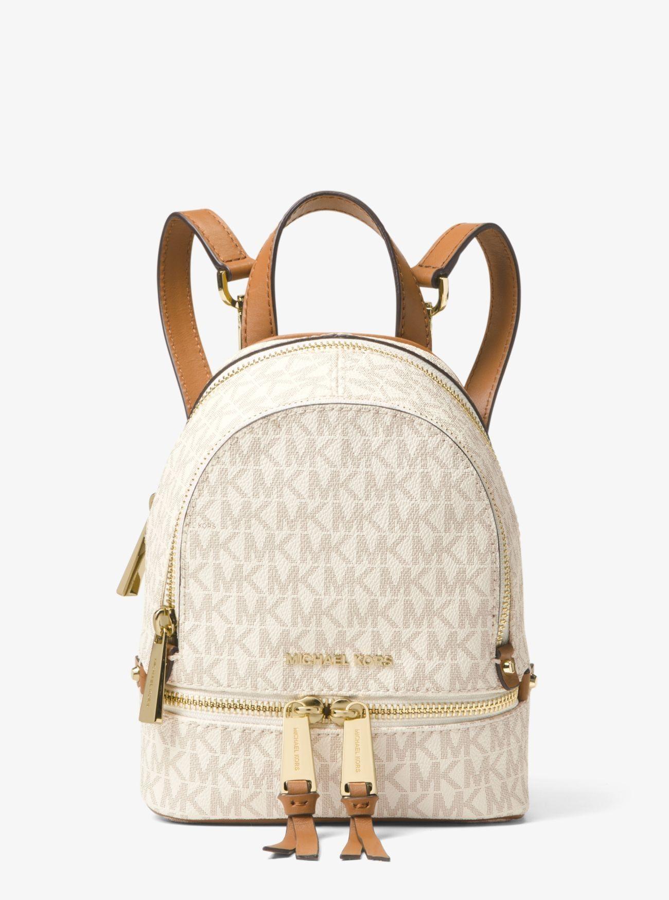 Sale Michael Kors Vanilla Rhea Mini Logo Backpack Online