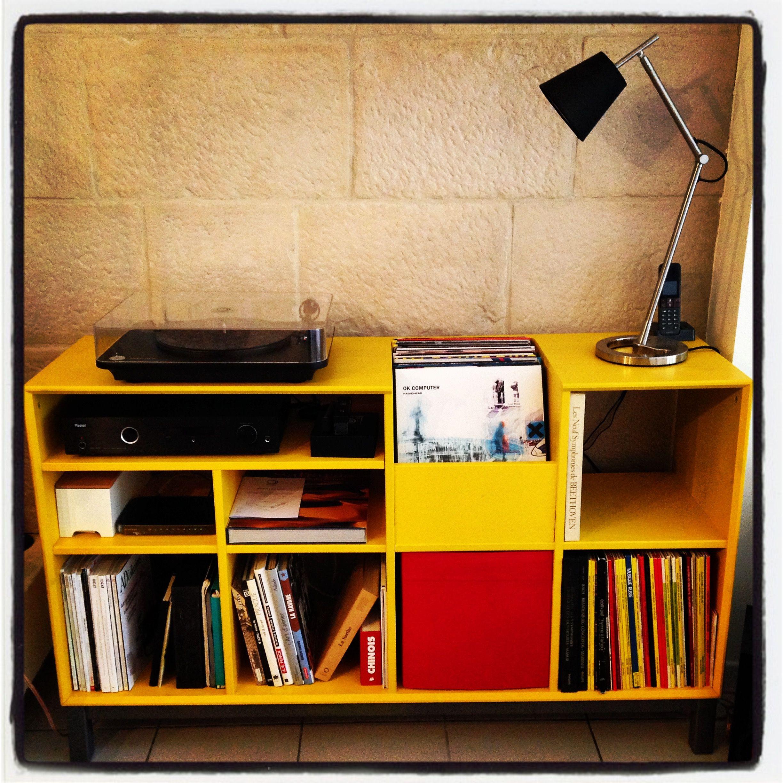Diy Hifi Meuble Ikea Transforme En Meuble Hi Fi Pour Vinyles Meuble Pour Platine Vinyle Rangement Salle De Bain Meuble Hifi