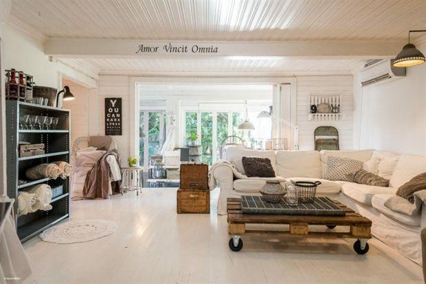 La salle de séjour s\u0027habille en style shabby chic Salons - decoration de salle de sejour
