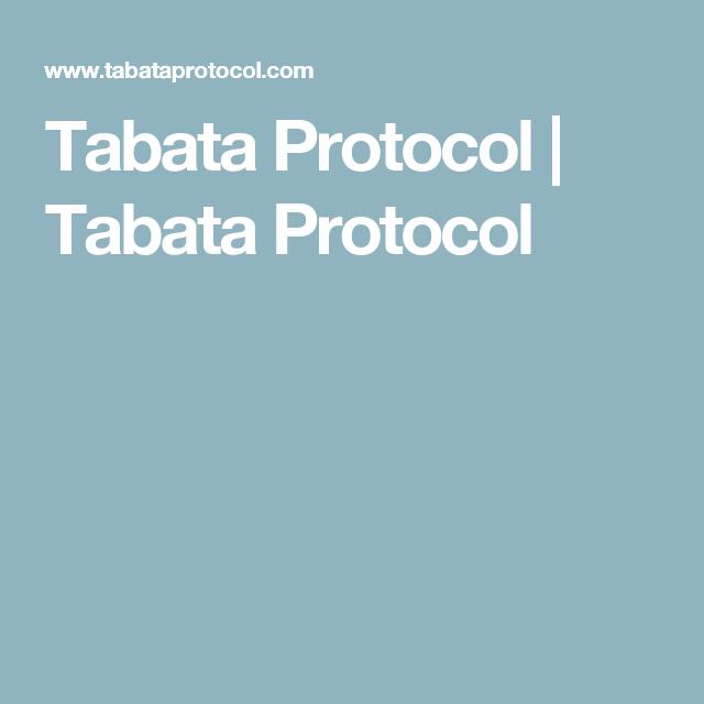 Tabata Protocol | Tabata Protocol