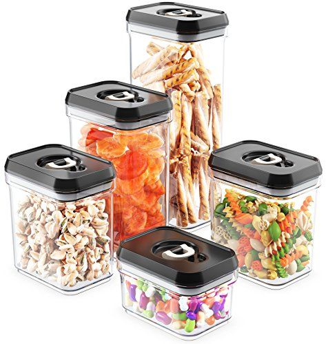 Royal AirTight Food Storage Container Set 5Piece Set Durable Plastic