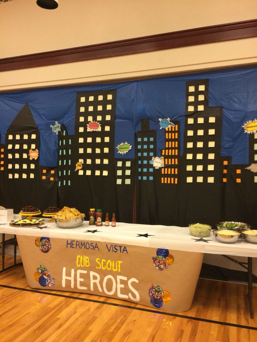 blue and gold banquet cub scout superheroes | best cub scout ideas