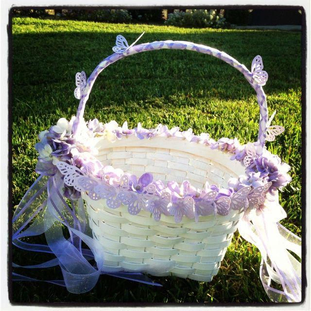 DIY Flower Girl Baskets Basket