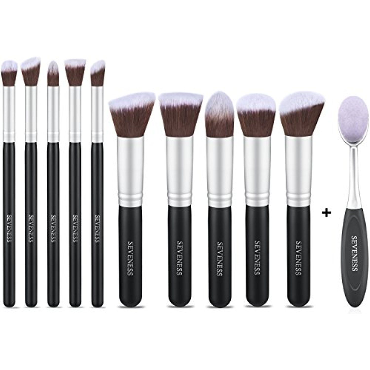 Makeup Brushes Sets, 11pcs Synthetic Kabuki Makeup