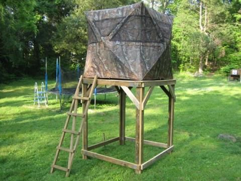hunting build ground blinds raised luxury