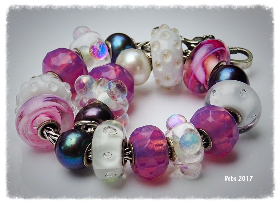 Pinks with pearls and white