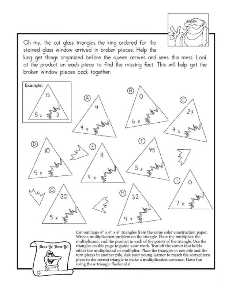 Fact Triangle Worksheets Easy Worksheets For Kids Triangle Worksheet Fact Triangles