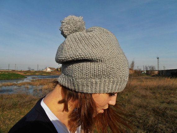 Womens Hats Knit Hat Winter Hat Pom Pom Hat por PetiteIdasCreations