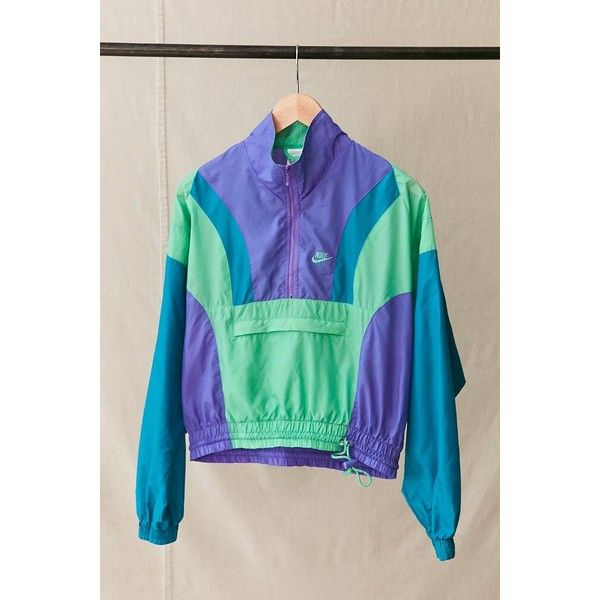 Vintage Nike Pullover Windbreaker Jacket 89 Liked On Polyvore Featuring Activewear