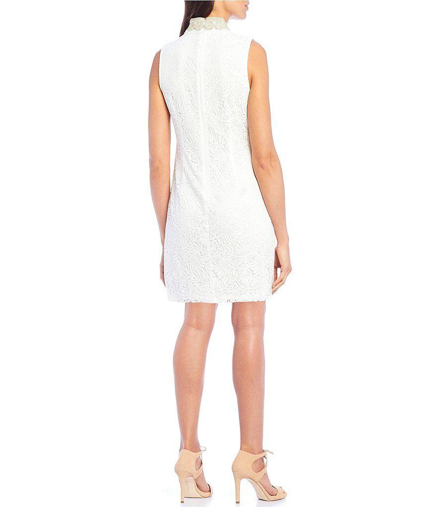3b5ffd08 Jessica Howard Mandarin Collar Sleeveless Shift Dress #Sponsored #Mandarin,  #spon, #