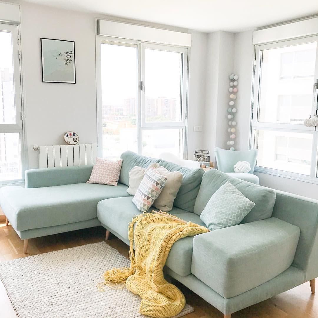 Livingroom Pastel Decor Pastel Living Room Green Sofa Living