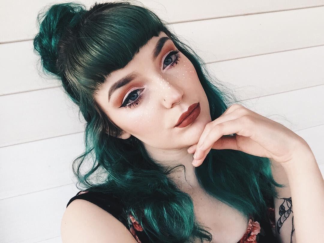 Pin by Miyuki Szekely on Cool hair  Pinterest  Green hair
