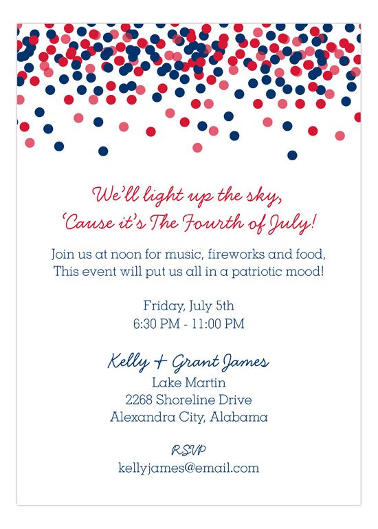 red white and blue confetti patriotic partytime pinterest