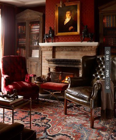 Cigar Rooms Classically Beautiful Fireplace Leather Gorgeous