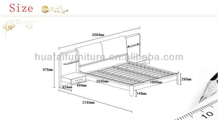 Resultado de imagen para medidas cama moderna mobiliario for Medidas cama matrimonial