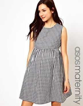 a106979ebd8 Image 1 of ASOS Maternity Smock Dress in Gingham Check