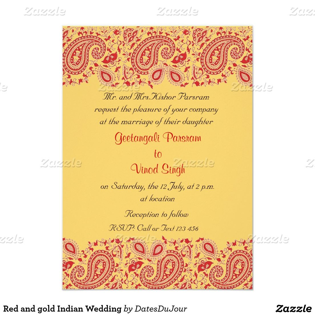 Red And Gold Indian Wedding Card Indian Wedding Cards Indian Wedding Invitations Wedding Invitations
