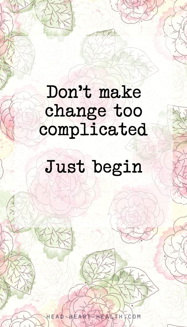 Don't make change too complicated. Just begin #quote