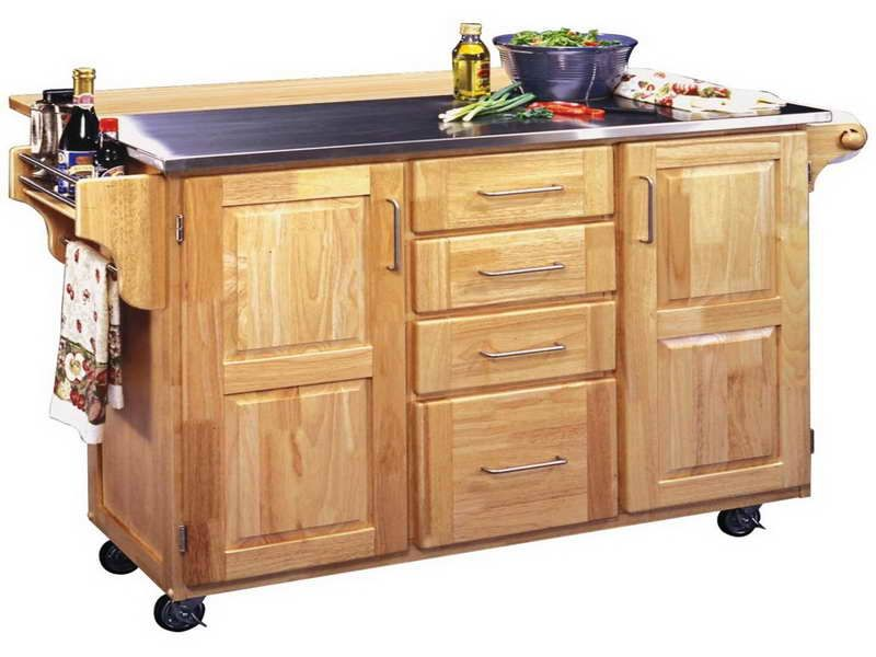 Rolling Island For Kitchen Kitchen Cart Stainless Steel Kitchen