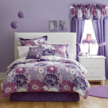 jcp home™ Angelica 6-pc. Twin Floral Complete Bedding Set with ...