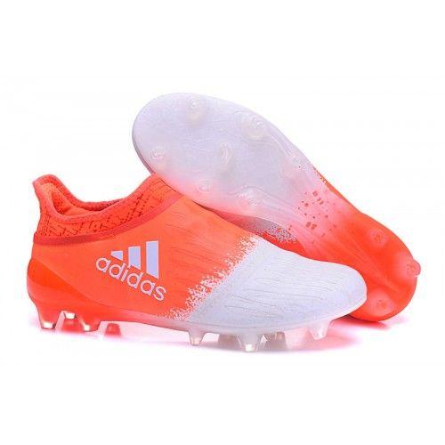 more photos e8fc6 dc5e9 2016 Adidas X 16 Purechaos FG AG Chaussures de football Orange Blanc