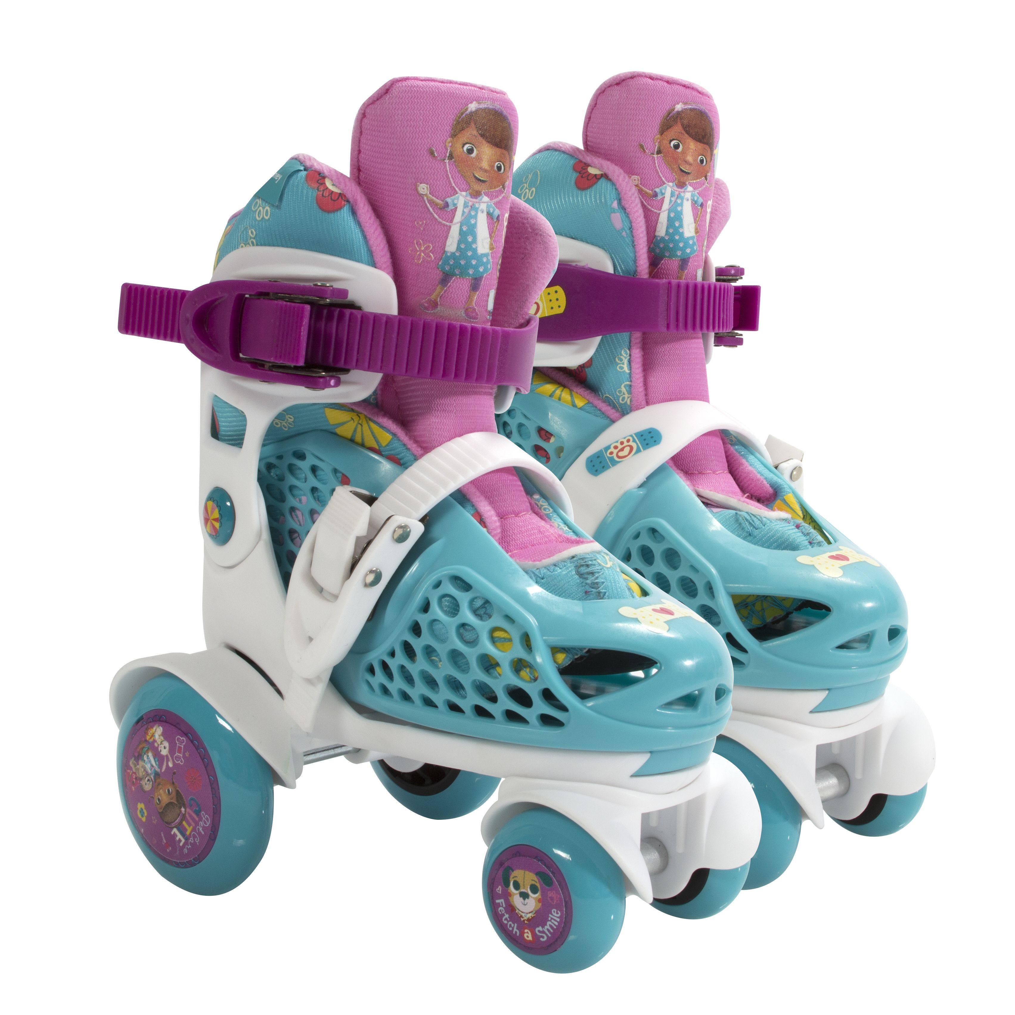 Bravo Playwheels Disney Doc McStuffins Junior Size 6-9 Big Wheel Skates