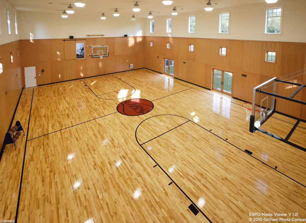 Indoor basketball court indoor basketball courts for Custom indoor basketball court