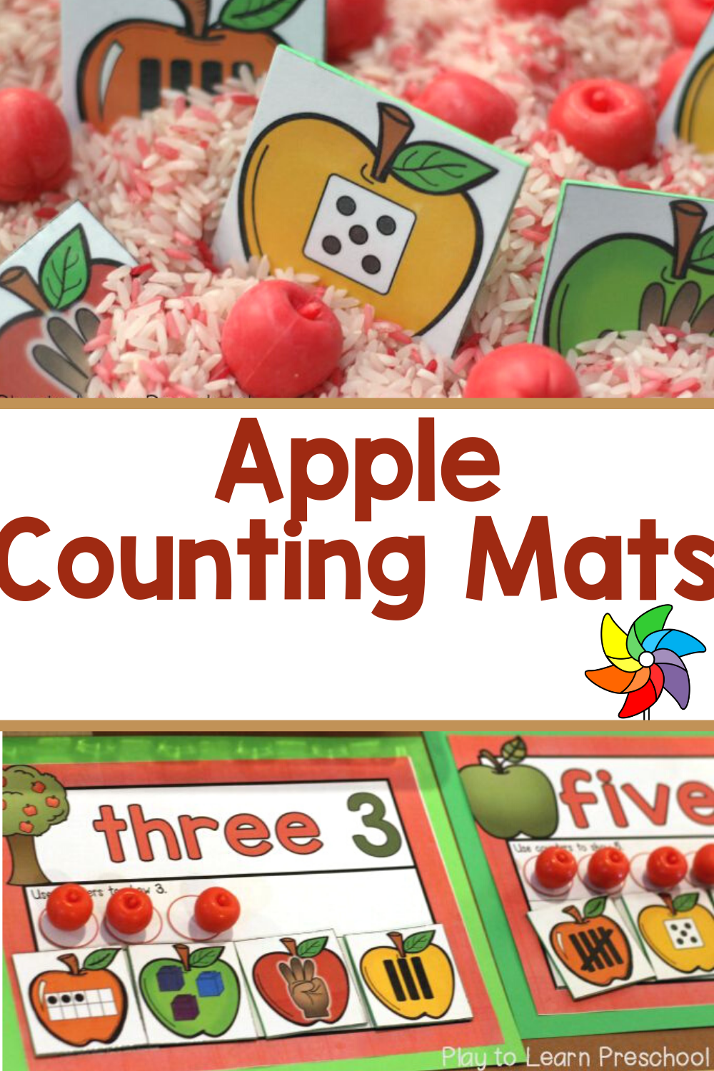 Apple Counting Mats Visualizing Numbers Preschool Apple Activities Fall Preschool Activities Apple Activities [ 1500 x 1000 Pixel ]