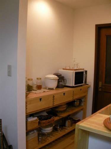 電子レンジの置き場所 システムキッチン キッチン 電子レンジ