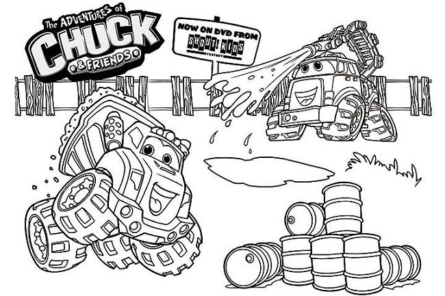 Chuck the truck Coloring Pages